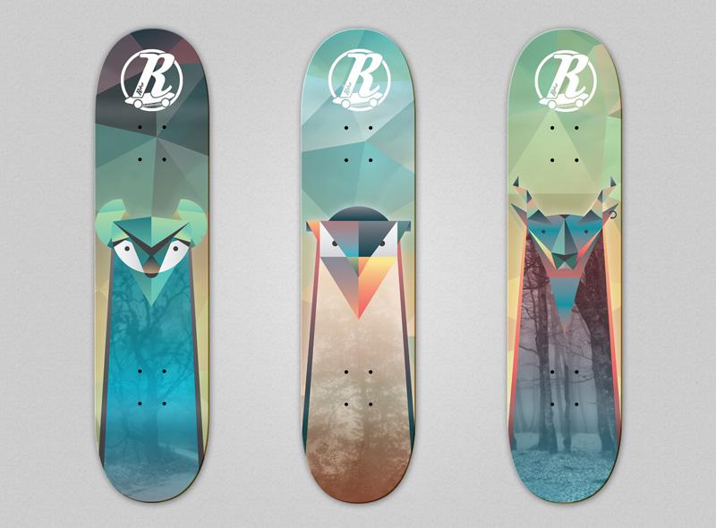 1_retro_skateboard_design_illustration_geometric